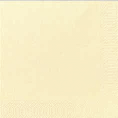 Duni Zelltuch Servietten 33x33 3lg 1/4 cream  - 10x50 Stück