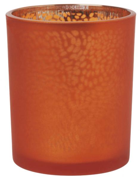 Duni Kerzenhalter Artic Frosted mandarin 70x60mm - 20x1 Stück