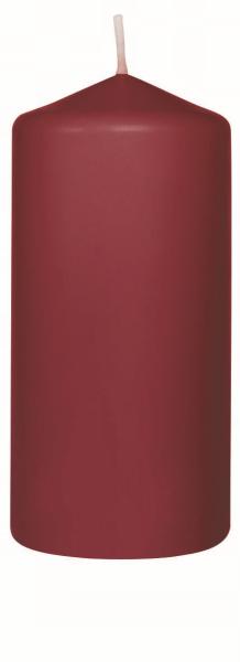 Duni Stumpenkerzen 130x60mm, bordeaux  - 2x6 Stück