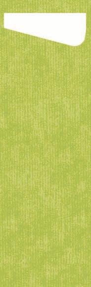 Duni SACCHETTO Slim 230x70mm kiwi/Dunisoft Servietten weiss - 4x60 Stück