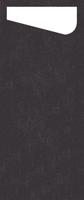 Duni SACCHETTO 230x115mm Dunisoft Servietten , schwarz/Servietten Cream - 4x60 Stück