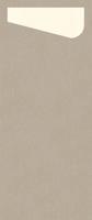 Duni SACCHETTO 230x115mm Dunisoft Servietten ,greige/Servietten cream - 4x60 Stück