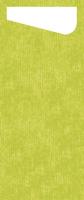 Duni SACCHETTO 230x115mm Dunisoft Servietten ,kiwi /Servietten cream - 4x60 Stück