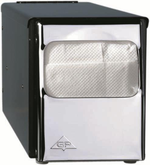 Duni Tischspender für Servietten 25x30 1lg, schwarz - 1 Stück