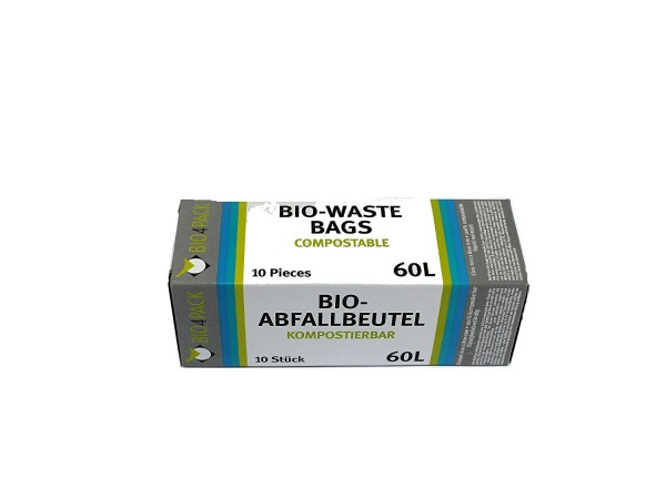 Bio4Pack Bio Müllbeutel 60L (1 Packung = 10 Stück)