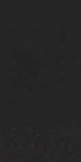 Duni Zelltuch Servietten 40x40 3lg 1/8 BF schwarz - 4x250 Stück