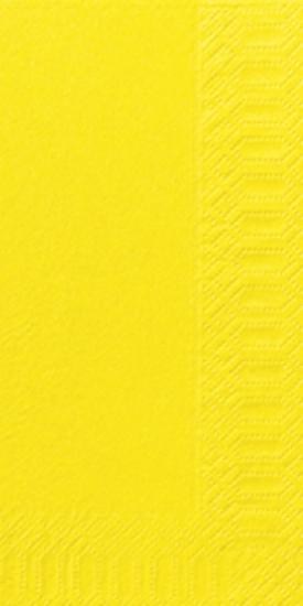 Duni Zelltuch Servietten 33x33 3lg 1/8 BF gelb - 4x250 Stück