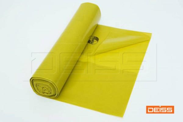 DEISS Abfallsack PREMIUM 120l gelb 70my (1 Rolle =  25 Stück)