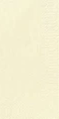 Duni Zelltuch Servietten 33x33 3lg 1/8 BF cream - 4x250 Stück