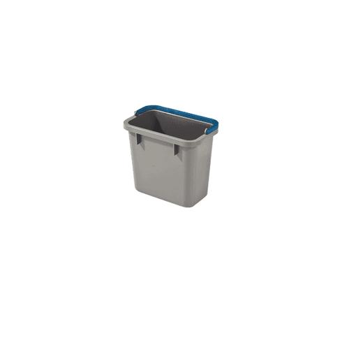 Numatic 4-Liter Eimer grau mit farbcodiertem Henkel (blau)