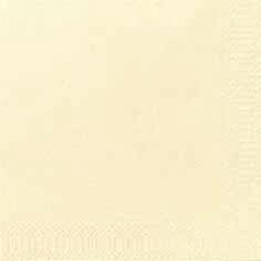 Duni Zelltuch Servietten 24x24 3lg 1/4 cream  - 8x250 Stück