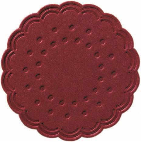 Duni Tassenuntersetzer Ø 7,5cm, 8lg bordeaux - 12x250 Stück
