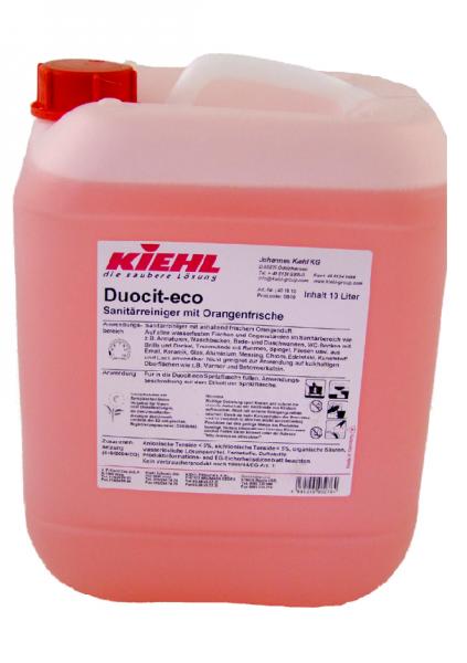 Kiehl Duocit eco 10 ltr. Kanister Sanitärreiniger m. Orangenfrische