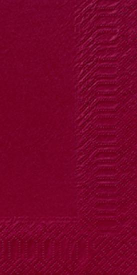 Duni Zelltuch Servietten 33x33 3lg 1/8 BF bordeaux - 4x250 Stück