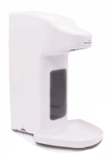 Euraneg Desinfektionsmittelspender touchless 500ml, weiß mit Tropfschale