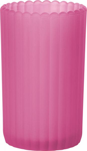 Duni Teelichtglas Patio, gefrostet fuchsia - 2x6 Stück