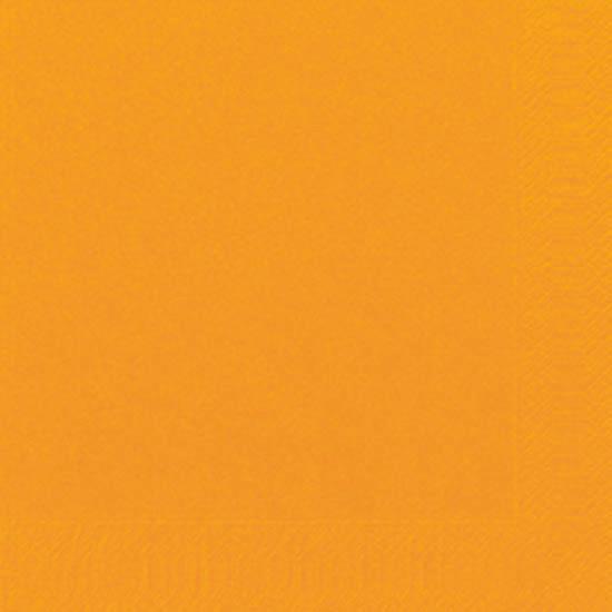 Duni Zelltuch Servietten 33x33 3lg 1/4 orange  - 4x250 Stück