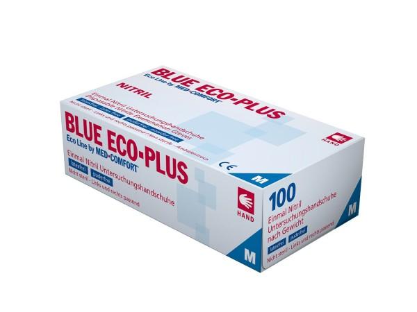 Ampri Einmalhandschuh - Nitril puderfrei - Blue Eco-Plus - S (blau)