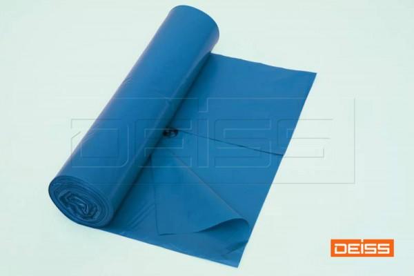 DEISS Abfallsack PREMIUM 70l blau 50my (1 Rolle = 25 Stück)