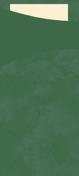 Duni SACCHETTO 190x85mm j'grün/Servietten cream - 5x100 Stück