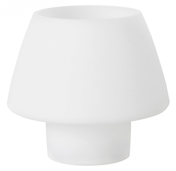 Duni Teelichthalter Moody Maxi, Silikon, weiß - 4x1 Stück