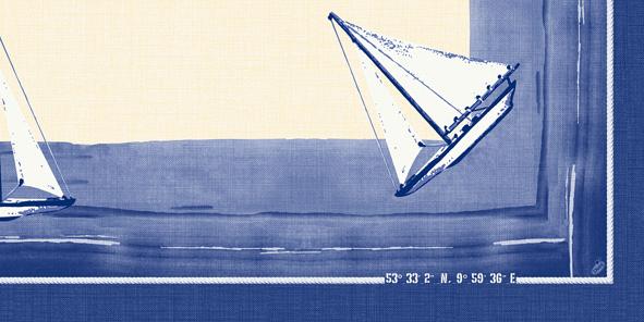 Duni Dunicel Mitteldecke 84x84 Sailing  - 5x20 Stück