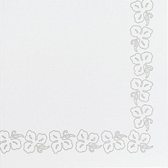 Duni Dunicel Servietten 41x41 Weinranke weiß - 10x50 Stück