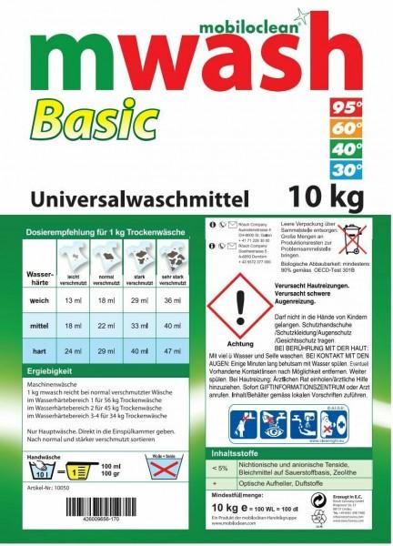 Cleanclub Vollwaschmittel 10 kg Karton