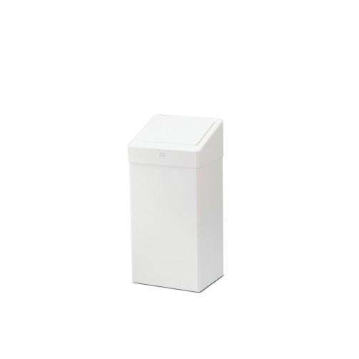 Tork Abfallbehälter 50L mit Klappdeckel - Metall - weiß - B1