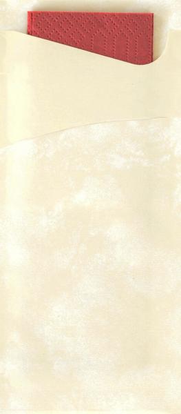 Duni SACCHETTO 190x85mm cream /Servietten bord  - 5x100 Stück