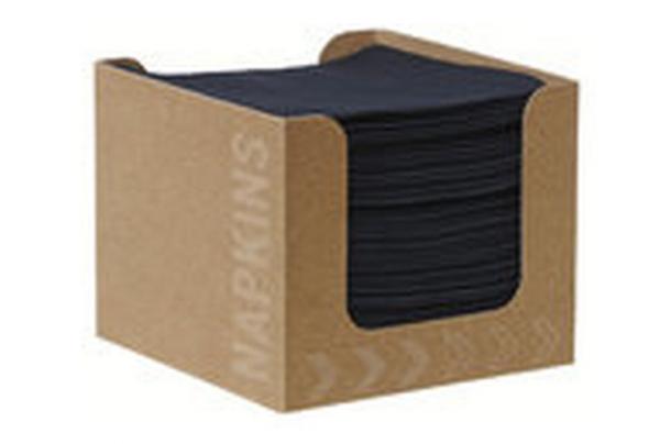 Duni Servietten Box D Soft 20x20cm, schwarz - 24x50 Stück