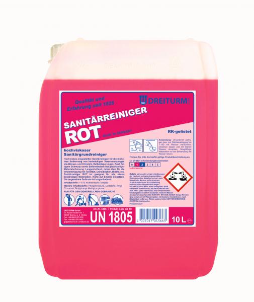 Dreiturm Sanitärreiniger rot 10L - 4366