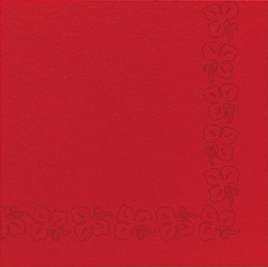 Duni Dunicel Servietten 41x41 Weinranke rot  - 10x50 Stück