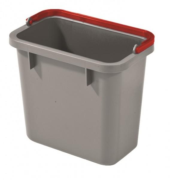 Numatic 4-Liter Eimer grau mit farbcodiertem Henkel (rot)