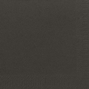 Duni Zelltuch Servietten 40x40 3lg 1/4 F schwarz  - 4x250 Stück