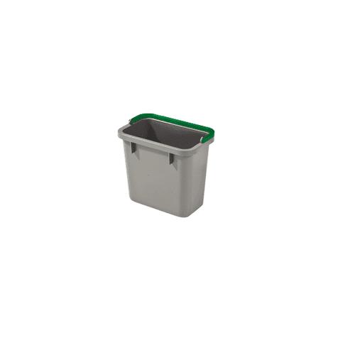 Numatic 4-Liter Eimer grau mit farbcodiertem Henkel (grün)