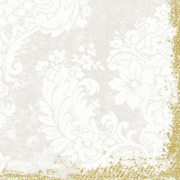 Duni Zelltuch Servietten 33x33 3lg 1/4 Royal white  - 10x50 Stück