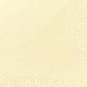 Duni Zelltuch Servietten 40x40 3lg 1/4 cream - 4x250 Stück