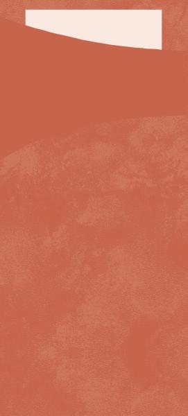 Duni SACCHETTO 190x85mm mandarin/Servietten weiß - 5x100 Stück