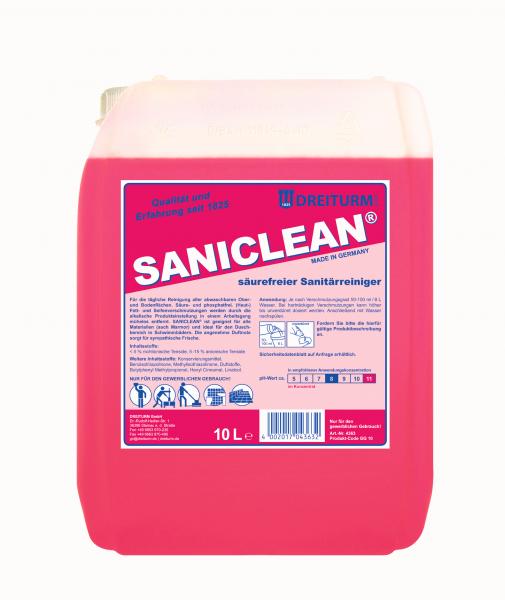 Dreiturm Saniclean Alkalischer Reiniger 10L - 4363