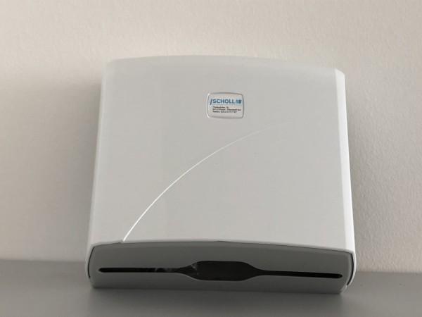 Handtuchpapier-Spender Kunststoff, weiß, für ca. 200 Blatt