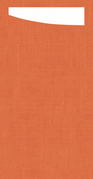 Duni SACCHETTO 230x115mm Dunisoft Servietten ,mandarin/Servietten weiß - 4x60 Stück