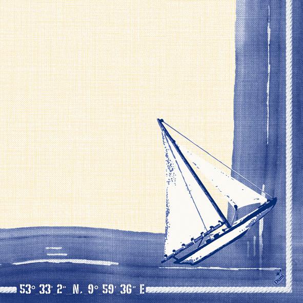 Duni Dunilin Servietten 40x40cm Sailing  - 12x50 Stück