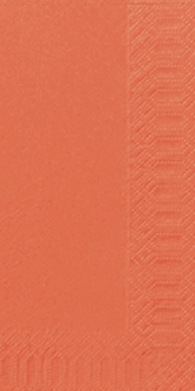 Duni Zelltuch Servietten 33x33 3lg 1/8 BF mandarin  - 4x250 Stück