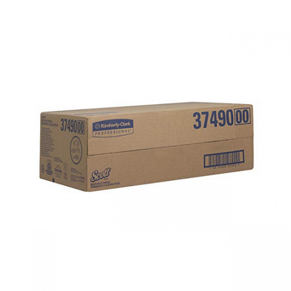 Kimberly Clark Handtuchpapier SCOTT Multifold 1-lag. weiß, 24x20cm, (4000 Blatt/Krt.)