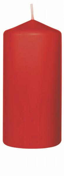 Duni Stumpenkerzen 130x60mm, rot  - 2x6 Stück