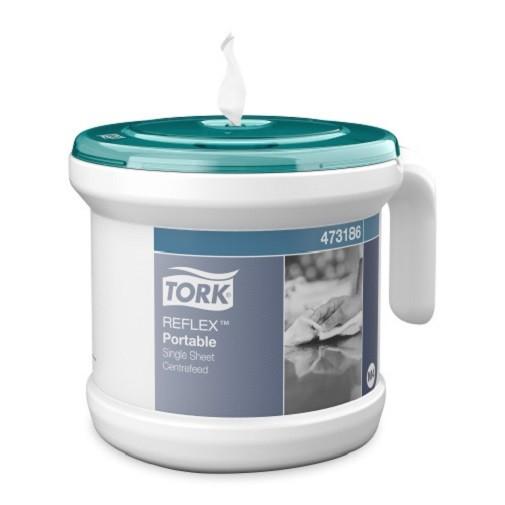 Tork Tragbarer Reflex Einzelblatt Innenabrollungsspender türkis/weiß