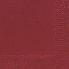 Duni Zelltuch Servietten 24x24 3lg 1/4 bordeaux  - 8x250 Stück