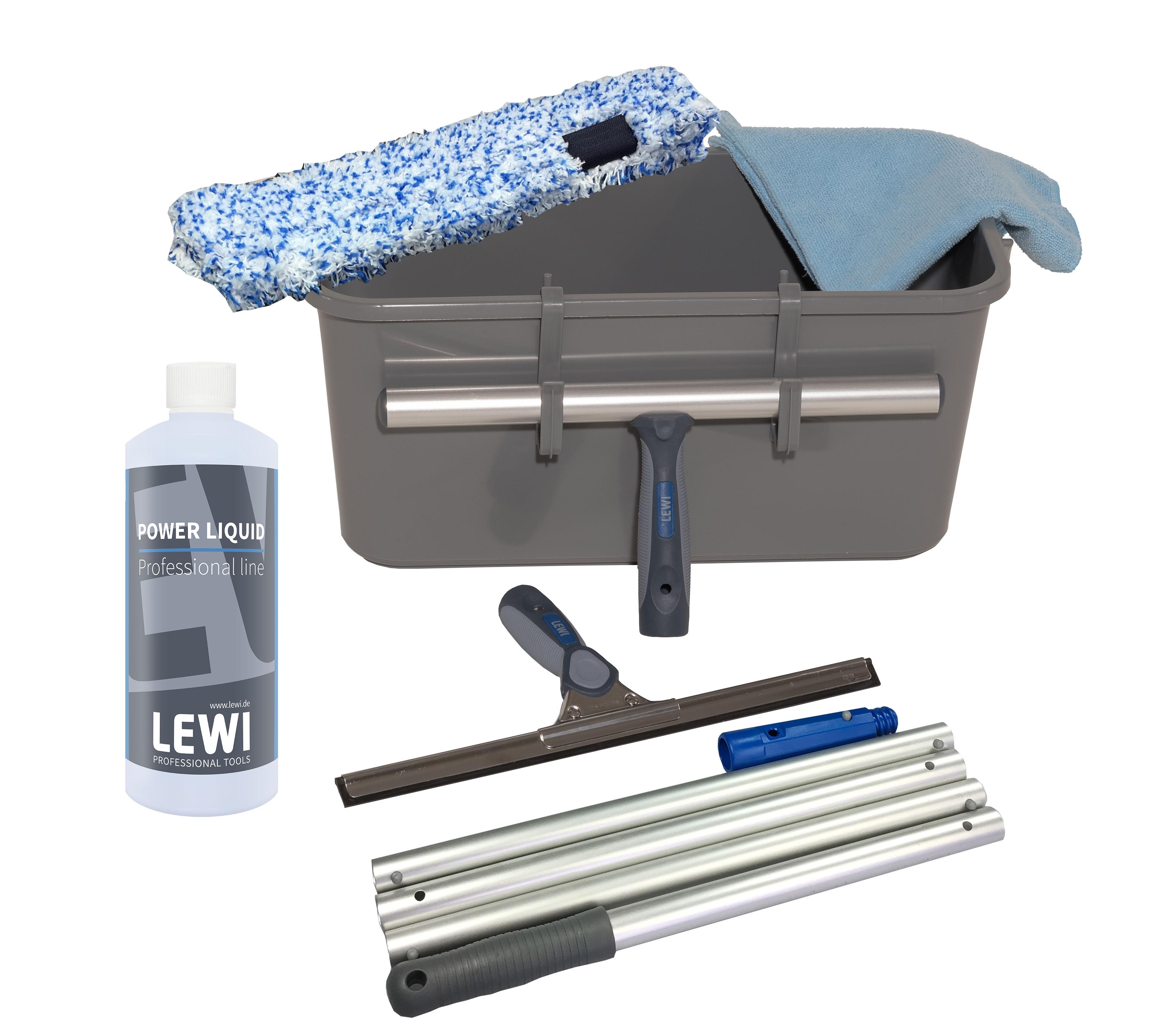 lewi easy clean fenster glas komplettset glasreinigungseimer sets glas. Black Bedroom Furniture Sets. Home Design Ideas