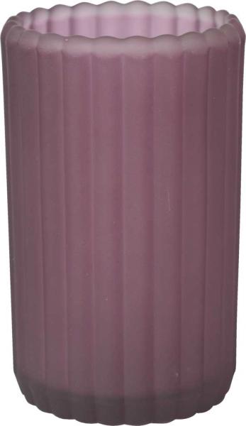 Duni Teelichtglas Patio, gefrostet plum - 2x6 Stück